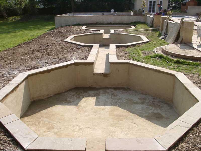 Building a formal pond, Hampshire.