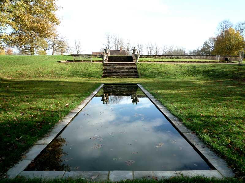 Formal pond, completed