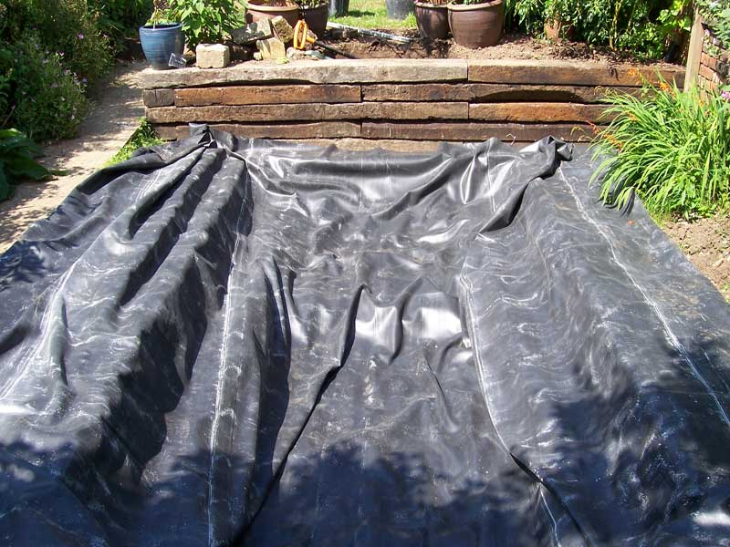 Lawn mats are laid to prevent damage