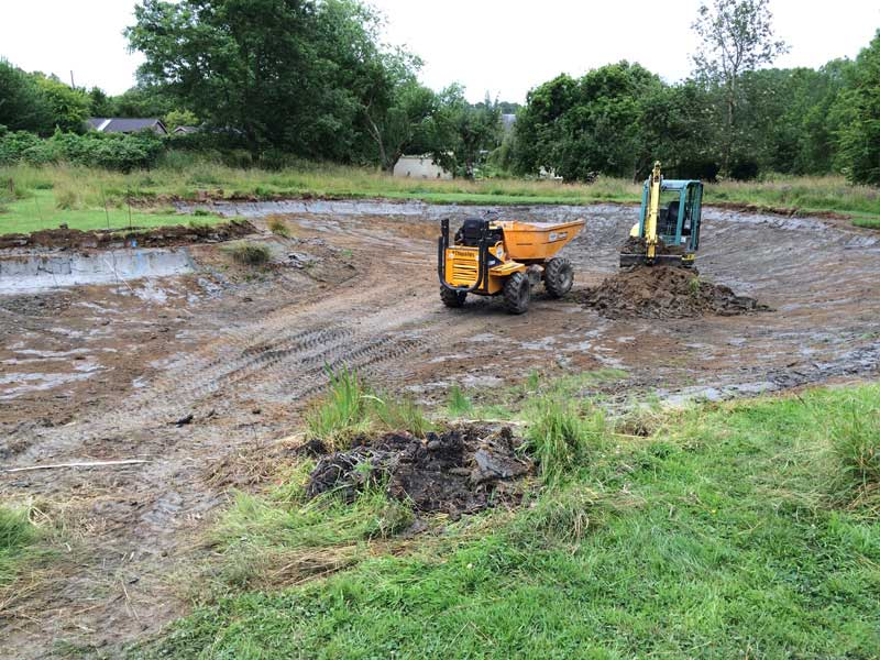 Pond construction Dorset.