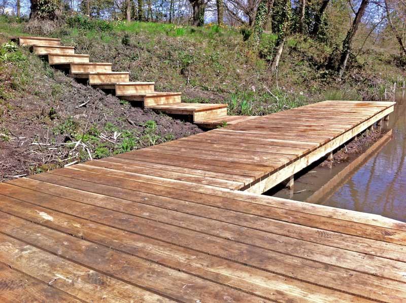 Decking and pond construction, Newbury, Berkshire