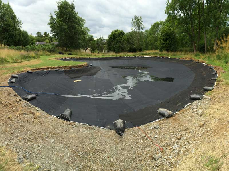 Pond construction, Dorset