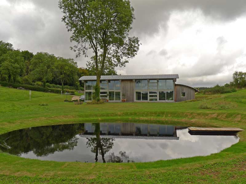 Reflection pool for Grand Designs house, Wiltshire
