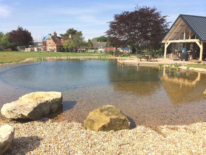 Swimming pond, Salisbury, Wiltshire