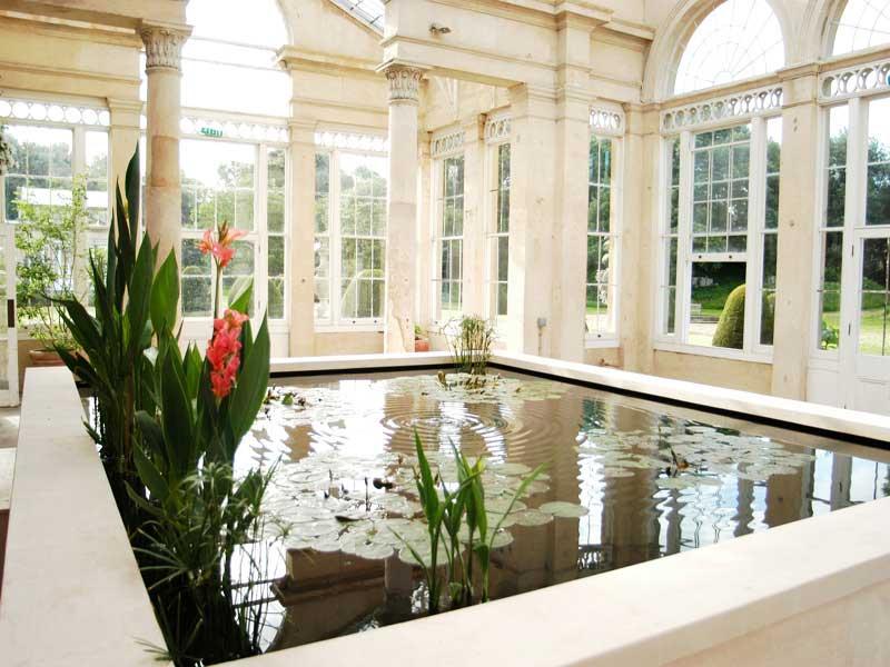 Syon house conservatory pond, London
