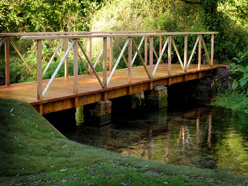 Bridge construction and riverbank protection, Hampshire
